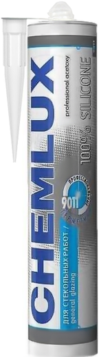 Chemlux 9011 для Стекольных Работ профессиональный герметик силиконовый (300 мл) бесцветный