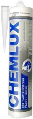 Chemlux 9015 для Сантехнических Работ профессиональный герметик санитарный силиконовый
