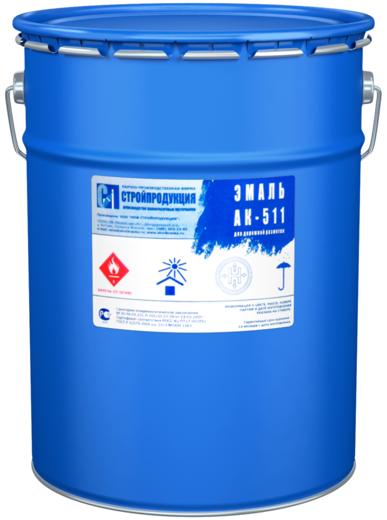 Стройпродукция АК-511 эмаль для дорожной разметки (30 кг) белая