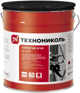 Технониколь №45 герметик бутил-каучуковый (16 кг) белый