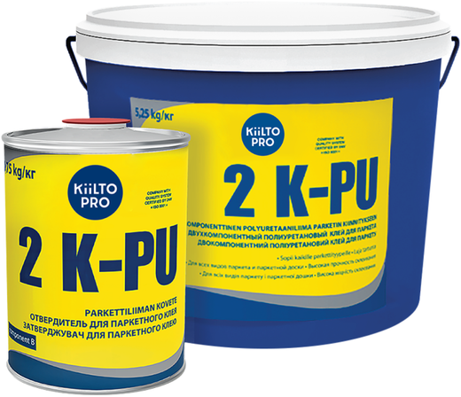 Kiilto 2 K-PU двухкомпонентный полиуретановый клей для паркета
