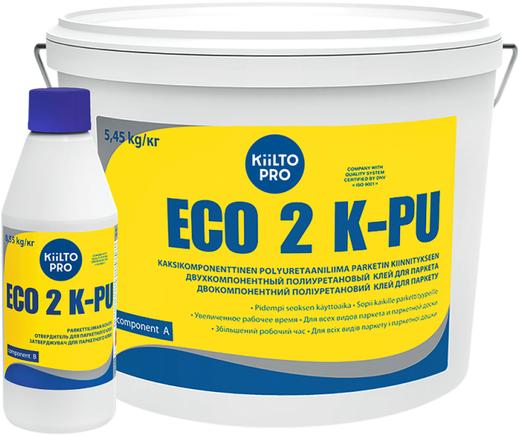 Kiilto Pro Eco 2 К-PU двухкомпонентный полиуретановый клей для паркета (6 кг)
