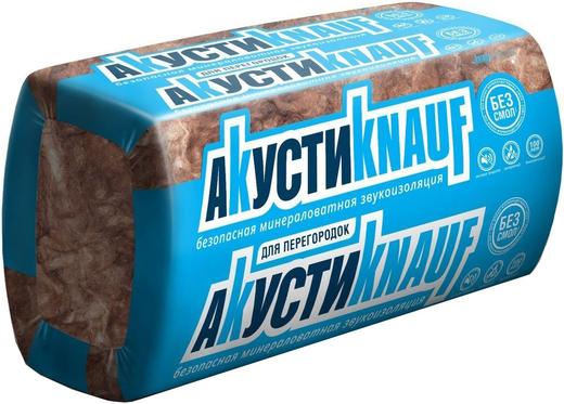 Кнауф Инсулейшн АкустиKnauf минераловатная звукоизоляция (0.61*1.23 м/50 мм)