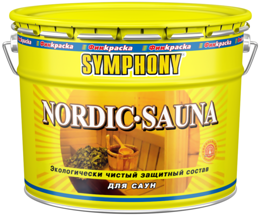 Финкраска Симфония Nordic-Sauna экологически чистый защитный состав для саун и бань (10 л) бесцветный