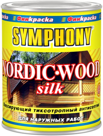 Финкраска Симфония Nordic-Wood Silk лессирующий тиксотропный антисептик (3 л) бесцветный