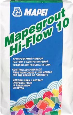 Mapei Mapegrout Hi-Flow 10 безусадочная быстротвердеющая ремонтная смесь наливного типа (25 кг)