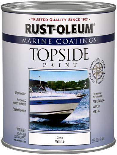 Rust-Oleum Marine Coatings Topside Paint краска для яхт и лодок выше ватерлинии (946 мл) яркая красная