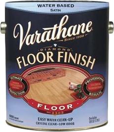Rust-Oleum Varathane Floor Finish Polyurethane Crystal Clear лак для пола на водной основе (3.78 л) глянцевый