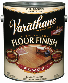 Лак для пола органо-растворимый Rust-Oleum Varathane Floor Finish Polyurethane Clear (3.78 л) полуглянцевый