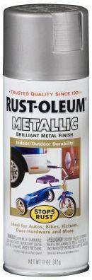Rust-Oleum Stops Rust Metallic эмаль антикоррозийная с эффектом металлика (312 г) серебро металлик