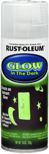 Rust-Oleum Specialty Glow in the Dark краска светящаяся в темноте (236 мл) зеленая (в темноте) с легким молочным оттенком