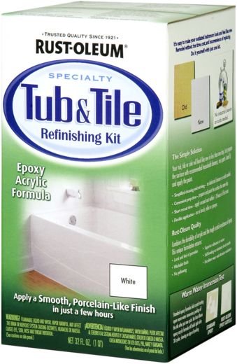 Rust-Oleum Specialty Tub & Tile Refinishing Kit эмаль для ванн и кафельной плитки (1.18 л) белая