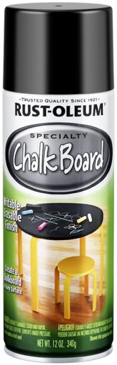Rust-Oleum Specialty Chalk Board краска с эффектом школьной доски (312 г) черная школьная доска
