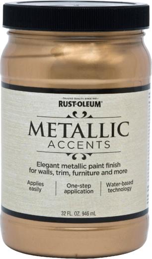 Rust-Oleum Metallic Accents краска с эффектом насыщенного металлика на акриловой основе (946 мл) кофе насыщенный металлик