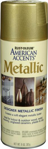 Rust-Oleum American Accents Metallic краска с эффектом состаренного металла (312 г) натертое золото состаренный металл