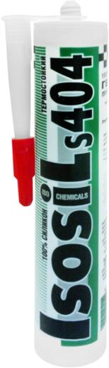 Герметик Iso Chemicals Isosil S404 термостойкий силиконовый 310 мл красный