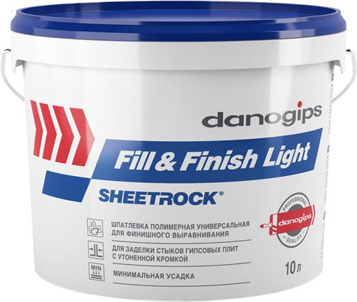Шпатлевка Даногипс Шитрок Fill & finish light полимерная универсальная для финишного выравнивания 10 л