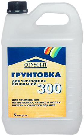 Консолит 300 грунтовка для укрепления оснований (10 кг)