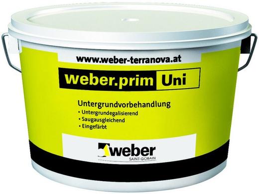 Вебер.Prim Uni фасадная грунтовка для подготовки поверхности под декоративные штукатурки