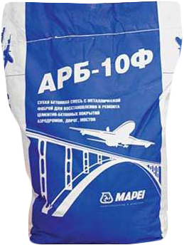 Mapei АРБ-10Ф сухая бетонная смесь с металлической фиброй (25 кг)