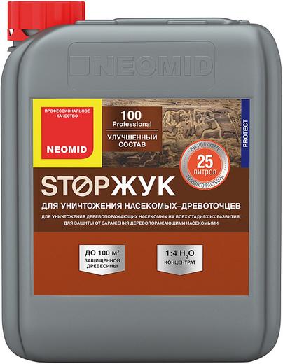 100 stopжук антисептический для уничтожения насекомых-древоточцев 1 л