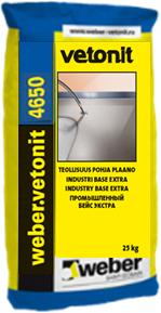 Вебер Ветонит 4650 Design Color цветной промышленный наливной пол (20 кг) серый