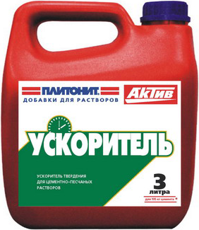 Плитонит Актив Ускоритель добавка-ускоритель твердения (10 л)