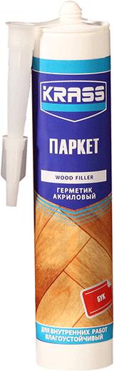 Krass Паркет герметик акриловый по дереву влагоустойчивый (300 мл) бук