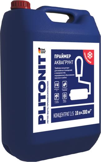 Плитонит Аквагрунт праймер-концентрат для влажных помещений и поверхностей (10 л)