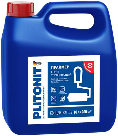 Плитонит Грунт Упрочняющий праймер-концентрат для укрепления слабых оснований (3 л)