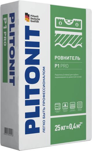 Плитонит Р1 Pro ровнитель стяжка для грубого выравнивания (25 кг)