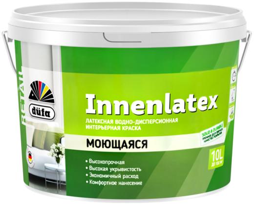 Краска Dufa Retail Innenlatex латексная для внутренних работ водно-дисперсионная 2.5 л бесцветная
