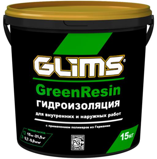 Глимс Greenresin гидроизоляция многоцелевой эластичный герметик (15 кг) зеленая