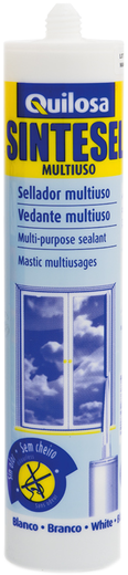 Герметик Quilosa Sintesel multiuso универсальный силиконизированный 280 мл белый