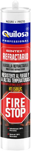 Quilosa Sintex Fire Stop Refractario термостойкий силиконовый герметик (300 мл) черный