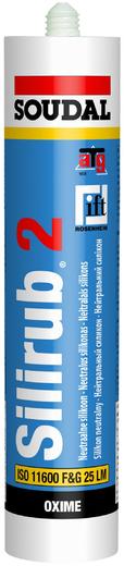 Soudal Silirub 2 нейтральный силикон (300 мл) бесцветный