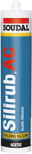 Soudal Silirub AC силикон для остекления (600 мл) белый