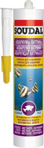 Soudal Аквариумы Витрины силикон для аквариумов (280 мл) черный