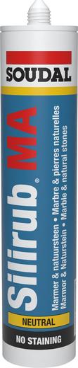 Soudal Silirub MA силикон для мрамора (310 мл) белый
