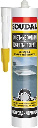 Soudal Кровельные Покрытия битумный кровельный герметик (280 мл) черный