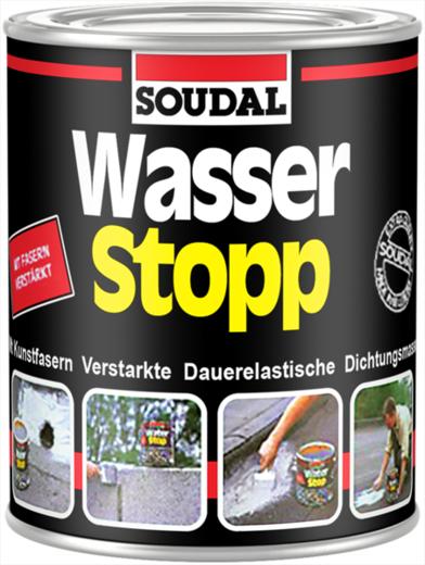 Soudal Wasser Stopp армированное покрытие для импрегнации крыш (750 г) серый