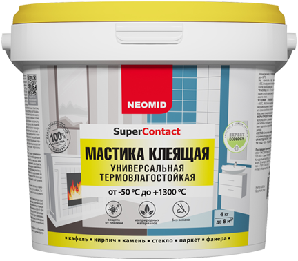 Неомид SuperContact мастика клеящая универсальная термовлагостойкая (20 кг)