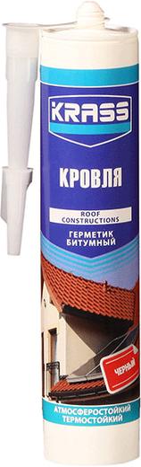Krass Кровля герметик битумный для крыш и кровли (300 мл) черный