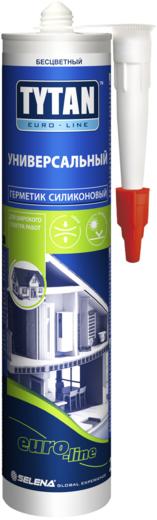 Титан Euro-Line Universal Silicone герметик силиконовый универсальный (290 мл) белый