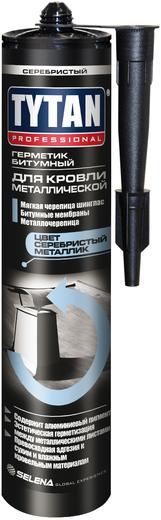 Герметик Титан Professional Битумный для металлической кровли 310 мл серебристый металлик