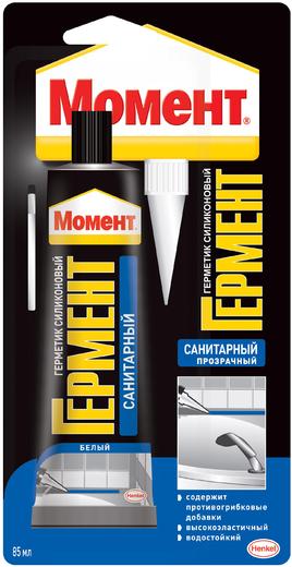 Момент Гермент герметик силиконовый санитарный (85 мл) белый