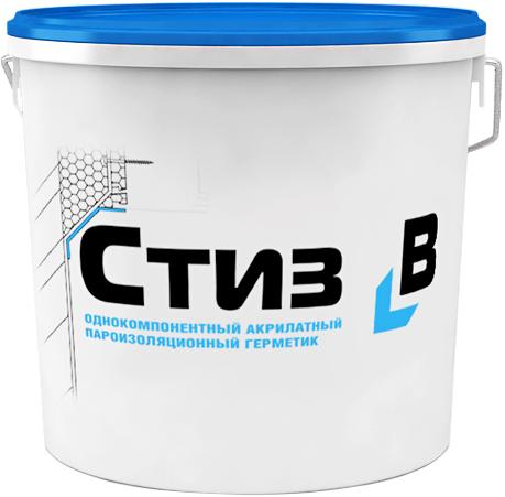 Однокомпонентный акрилатный пароизоляционный герметик Стиз В (7 кг) белый