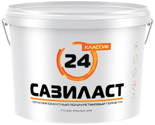 Двухкомпонентный полиуретановый герметик Сазиласт 24 Классик (16.5 кг) серый