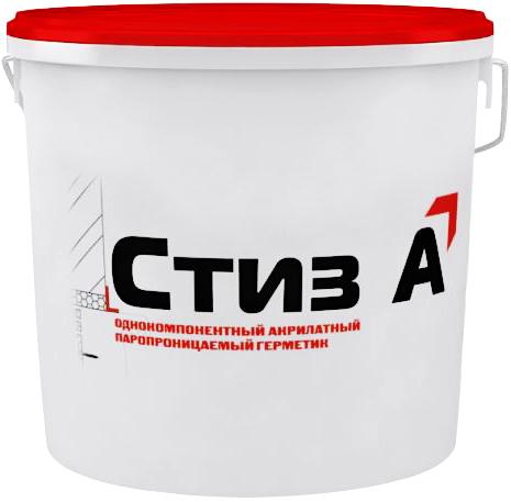 Однокомпонентный акрилатный паропроницаемый герметик Стиз А (7 кг) белый