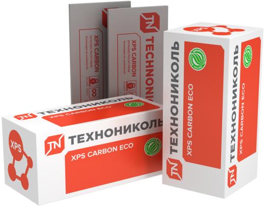 Carbon eco теплоизоляционная из экструзионного пенополистирола 0.58*1.18 м/20 мм